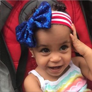 Accessories - NWT Red white & Blue Baby headbands